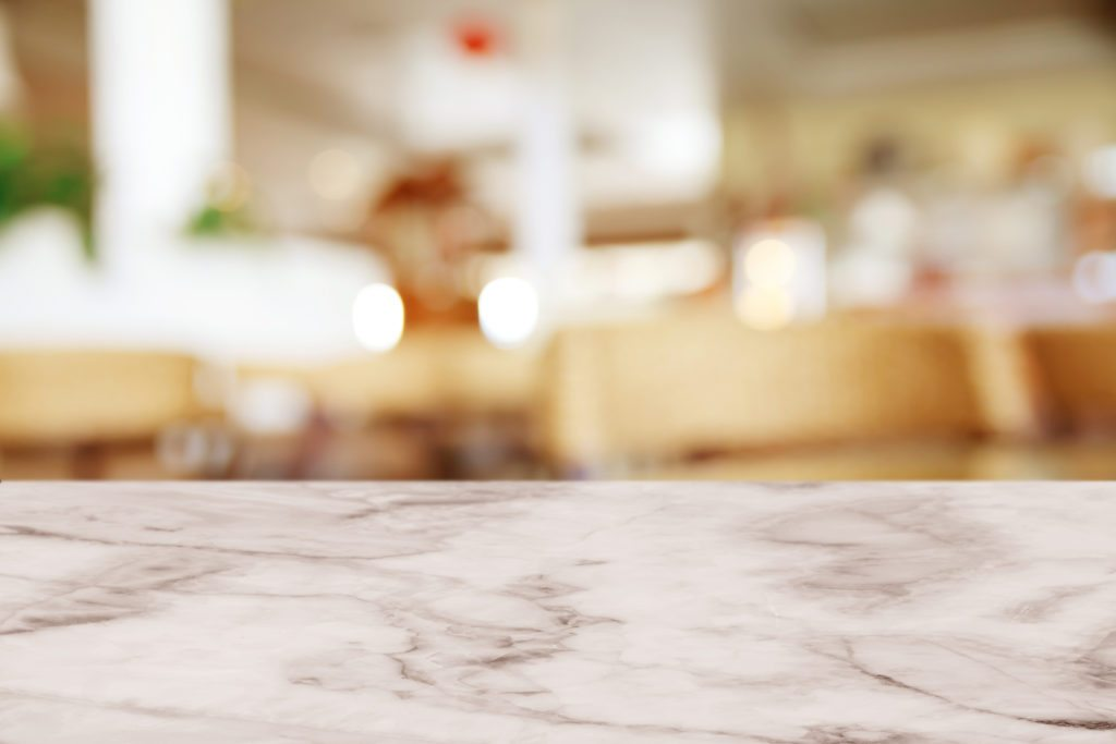 Marble countertop in a kitchen