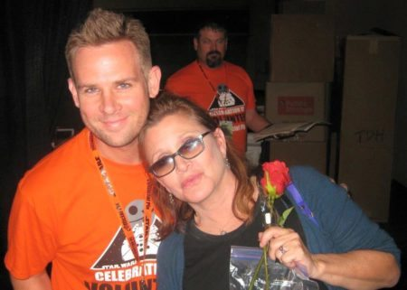 Bret Calltharp with Carrie Fisher