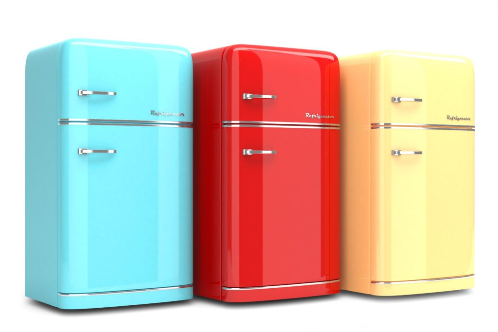 Vintage colored refridgerators